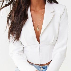 Corset blazer ( crop top)